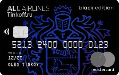 Кредитная карта Tinkoff All Airlines Black Edition